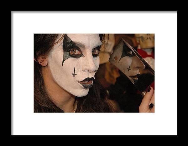 Photo Framed Print featuring the photograph Evil Schoolgirl 266 by Liezel Rubin