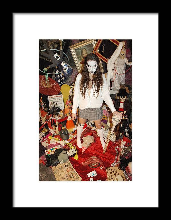 Photo Framed Print featuring the photograph Evil Schoolgirl 274 by Liezel Rubin