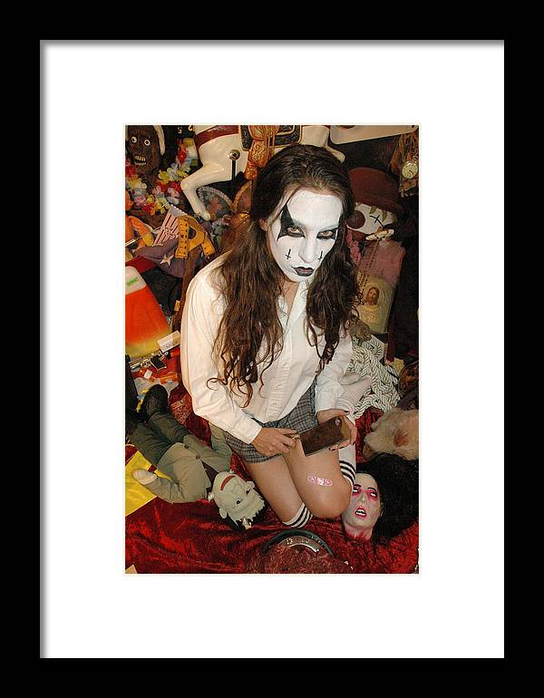 Photo Framed Print featuring the photograph Evil Schoolgirl 294 by Liezel Rubin