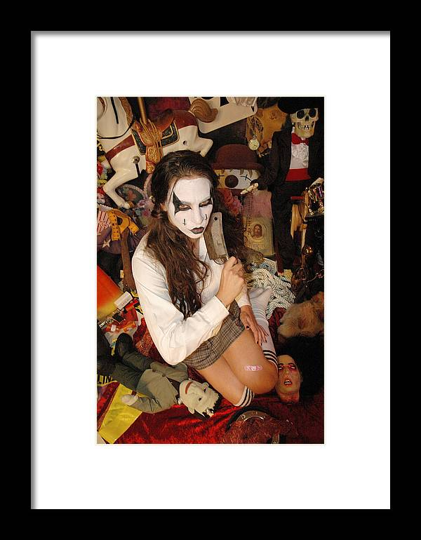 Photo Framed Print featuring the photograph Evil Schoolgirl 332 by Liezel Rubin