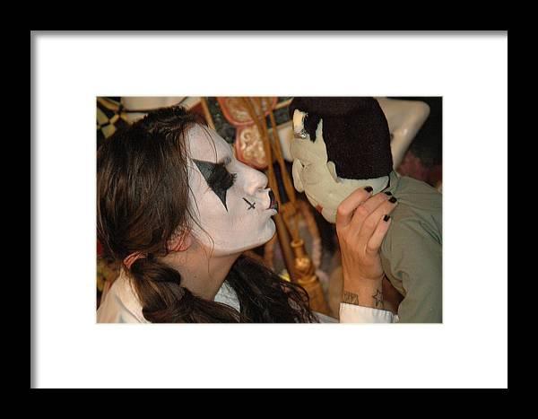 Photo Framed Print featuring the photograph Evil Schoolgirl 57 by Liezel Rubin