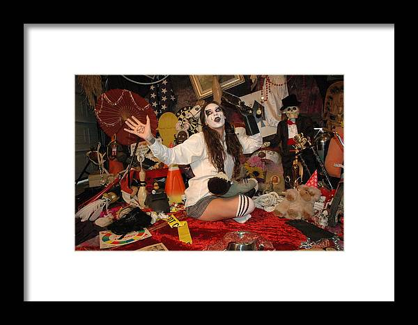 Photo Framed Print featuring the photograph Evil Schoolgirl 99 by Liezel Rubin