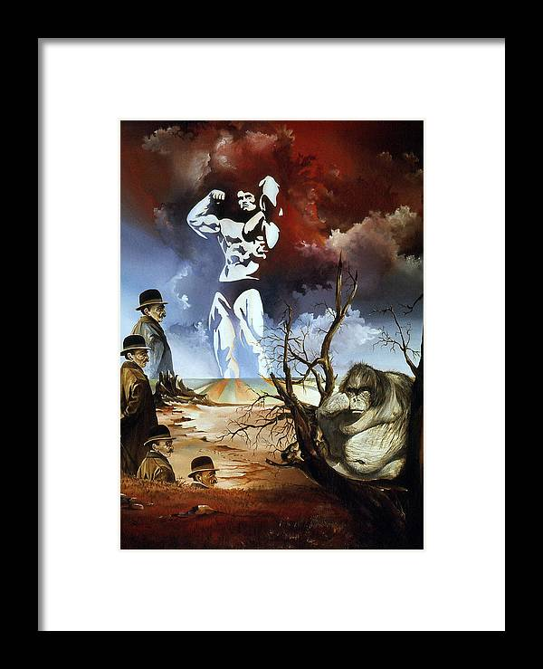 Surrealism Framed Print featuring the painting Evolution by Otto Rapp
