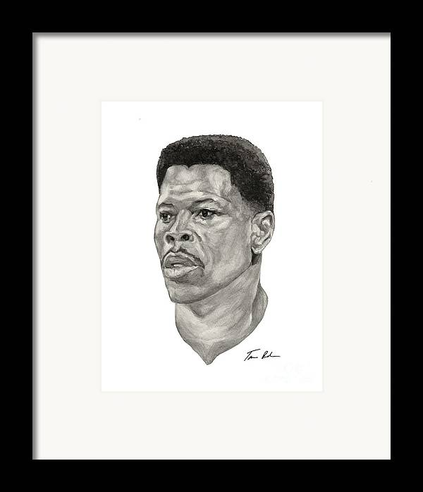Patrick Framed Print featuring the painting Ewing by Tamir Barkan
