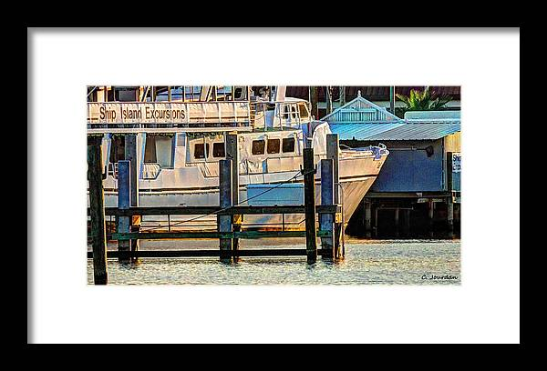 Boat Framed Print featuring the photograph Excursion Boat by Cathy Jourdan