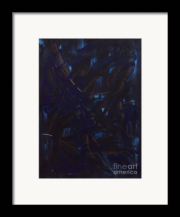 Abstract Framed Print featuring the painting Expectations Blue by Dean Triolo