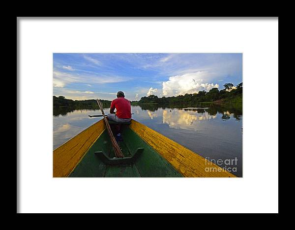 Amazon Framed Print featuring the photograph Exploring Amazonia by Bob Christopher