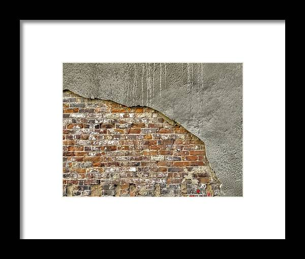 Facades Framed Print featuring the photograph Exposed Brick by Richard Gregurich