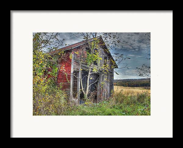 Shed Framed Print featuring the digital art Extra Storage by Sharon Batdorf