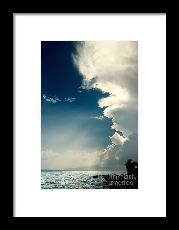 Aegean Framed Print featuring the photograph Extreme Weather On Its Way by Leyla Ismet