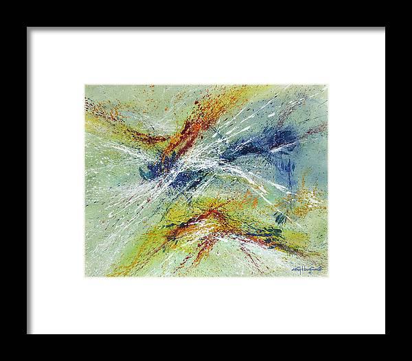 Original Framed Print featuring the painting Exuberance by Craig Burgwardt