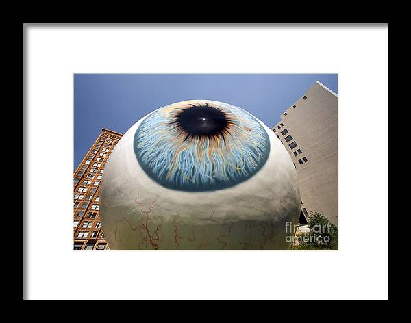 Eye Framed Print featuring the photograph Eye Gigantus by Martin Konopacki