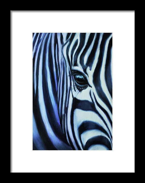 Animal Art Framed Print featuring the painting Eye Of Africa by Charice Cooper