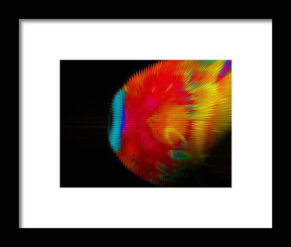 Abstract Framed Print featuring the digital art Eye See by Chick Phillips