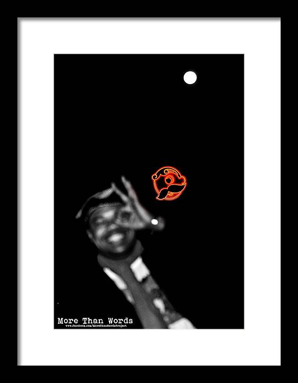 Moon Framed Print featuring the photograph Eye See The Moon by More Than Words - Poetic Photography