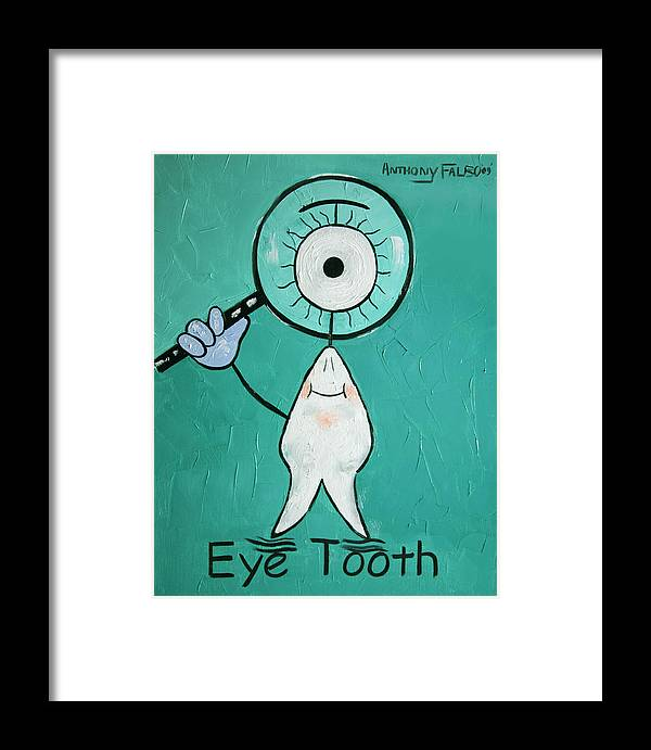 Eye Tooth Framed Print featuring the painting Eye Tooth by Anthony Falbo