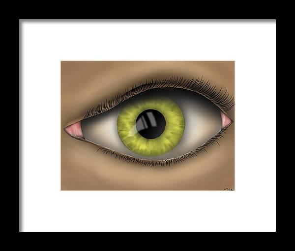 Eye Framed Print featuring the digital art Eyed by Daniel Sallee