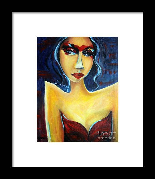 Acrylic Framed Print featuring the painting Eyes by Hope Mastroianni