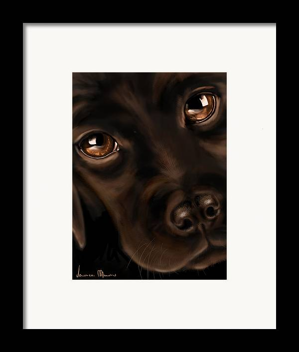 Digital Framed Print featuring the painting Eyes by Veronica Minozzi