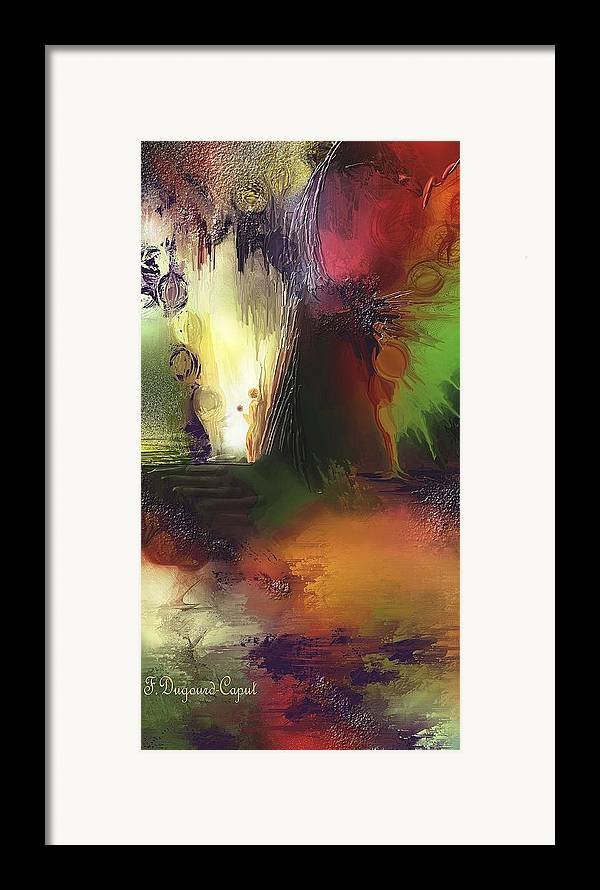 Abstract Framed Print featuring the painting Eygirunne by Francoise Dugourd-Caput