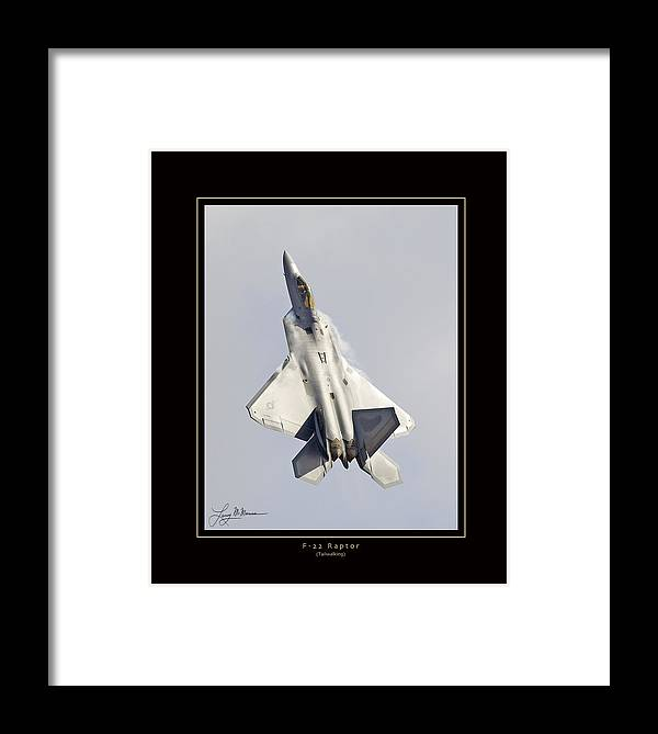 F-22 Raptor Framed Prints Framed Print featuring the photograph F-22 Raptor Tailwalking by Larry McManus