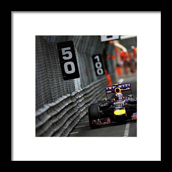 Red Bull Framed Print featuring the photograph F1 Grand Prix Of Monaco by Andrew Hone