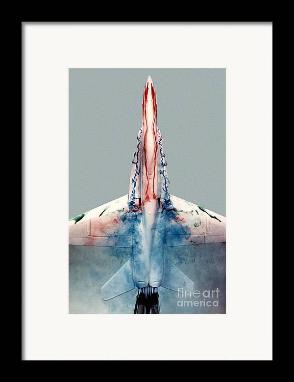 F-18 Framed Print featuring the photograph F18 Aerodynamics by Nasa Dfrc