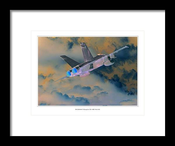 F-18 Hornet Framed Prints Framed Print featuring the photograph Fa-18d Hornet by Larry McManus