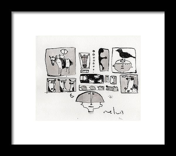 Fabula No. 1 Framed Print by Mark M Mellon