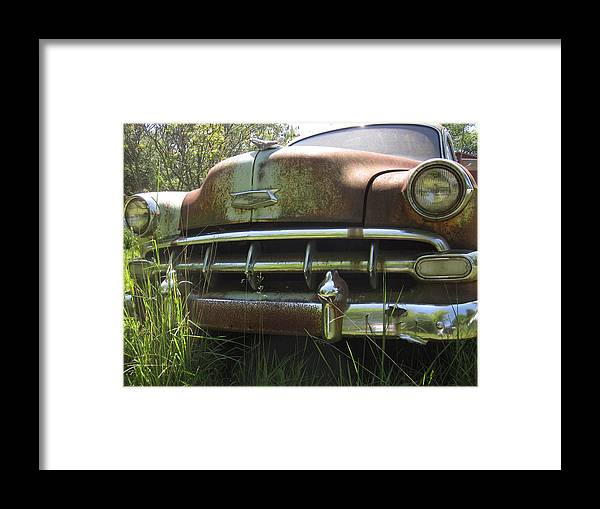Car Framed Print featuring the photograph Face From The Past by Guy Ricketts