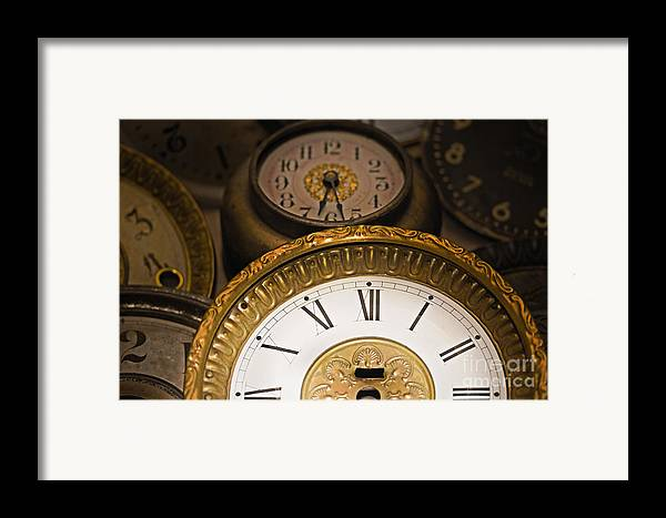 Clock Framed Print featuring the photograph Face Of Time by Tom Gari Gallery-Three-Photography