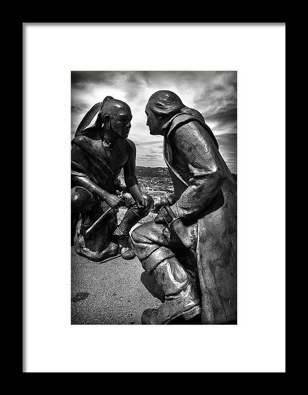Guyasuta's Legacy Framed Print featuring the photograph Face To Face by Brian Archer