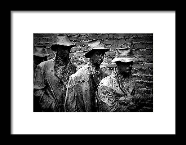 Breadline Framed Print featuring the photograph Faces In A Breadline by Gregory Strong