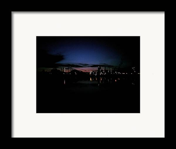 Herora Framed Print featuring the photograph Factory Fjord Sunset by Jonathan Laverick