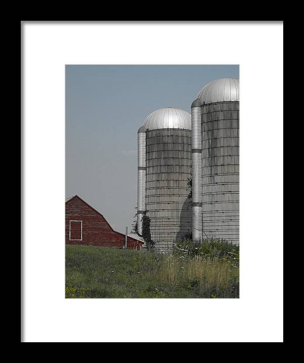 Landscapes Framed Print featuring the photograph Faded Farm by Photographic Arts And Design Studio