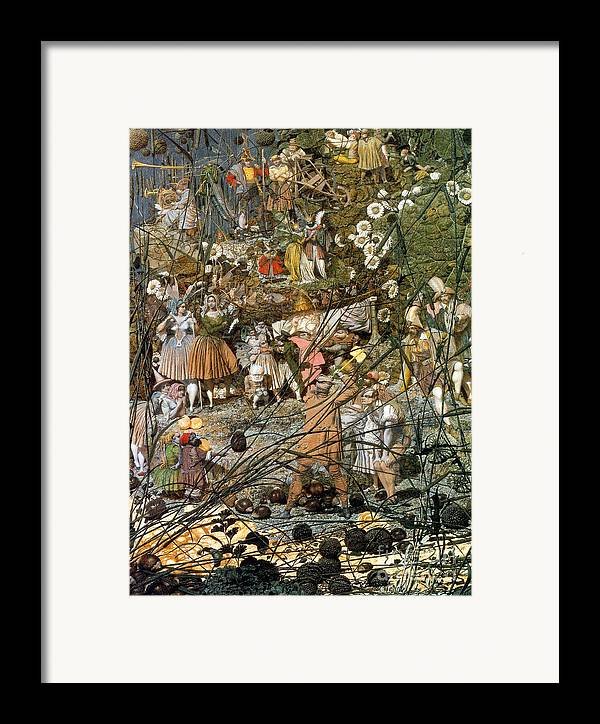 History Framed Print featuring the photograph Fairy Fellers Master-stroke by Photo Researchers