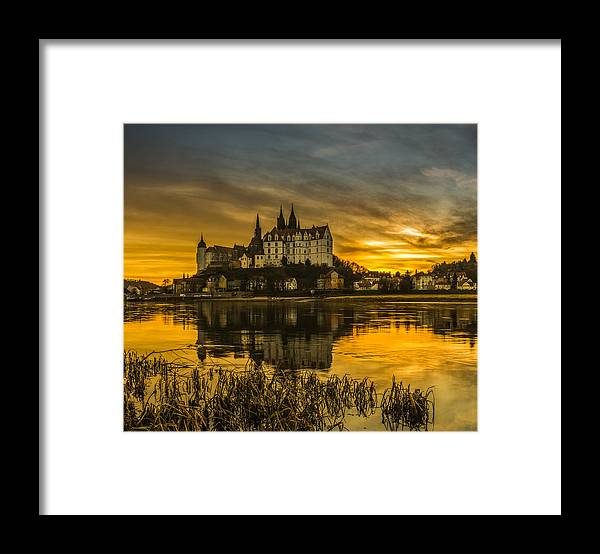 River Framed Print featuring the photograph Fairytale Sunset by Heinz Koch