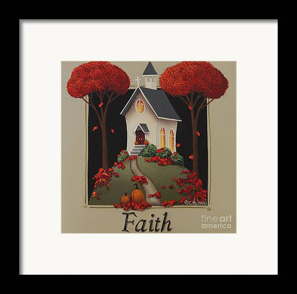 Art Framed Print featuring the painting Faith Country Church by Catherine Holman