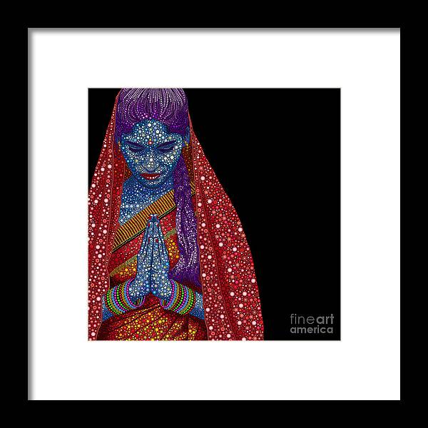 Flower Framed Print featuring the photograph Faith by Tim Gainey