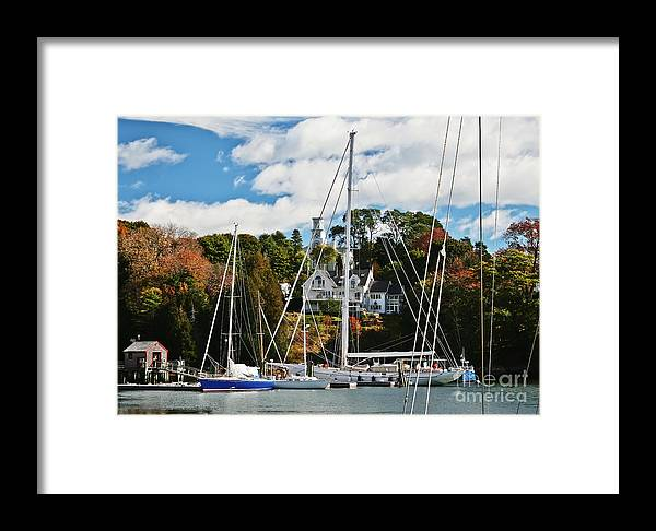 Travel Framed Print featuring the photograph Fall And The Sailboats by Elvis Vaughn