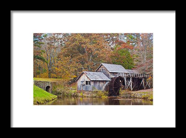 Virginia Framed Print featuring the photograph Fall At Mabry Mill by Linda Grant