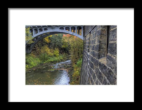 Mill Framed Print featuring the photograph Fall At Mill Creek Park by David Dufresne
