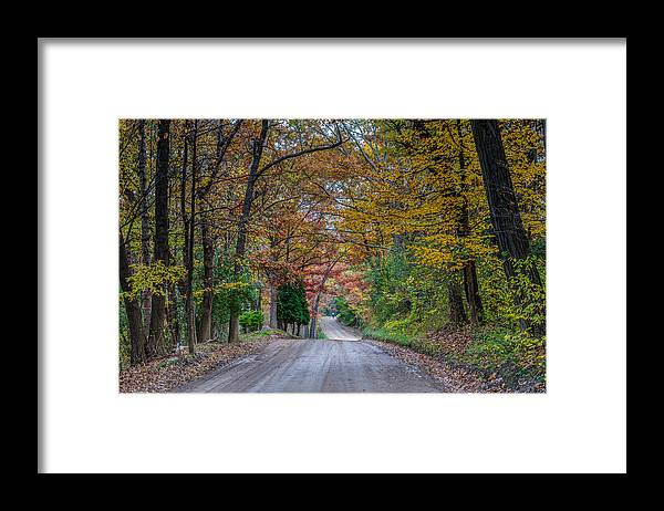 Fall Framed Print featuring the photograph Fall Bike Ride by Paul Johnson