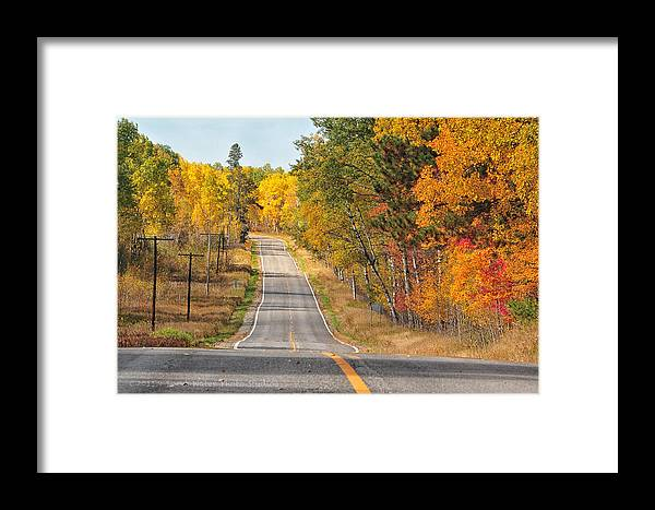 Minnesota Framed Print featuring the photograph Fall Color Tour Mn Highway 1 2878 by Marie Fierek