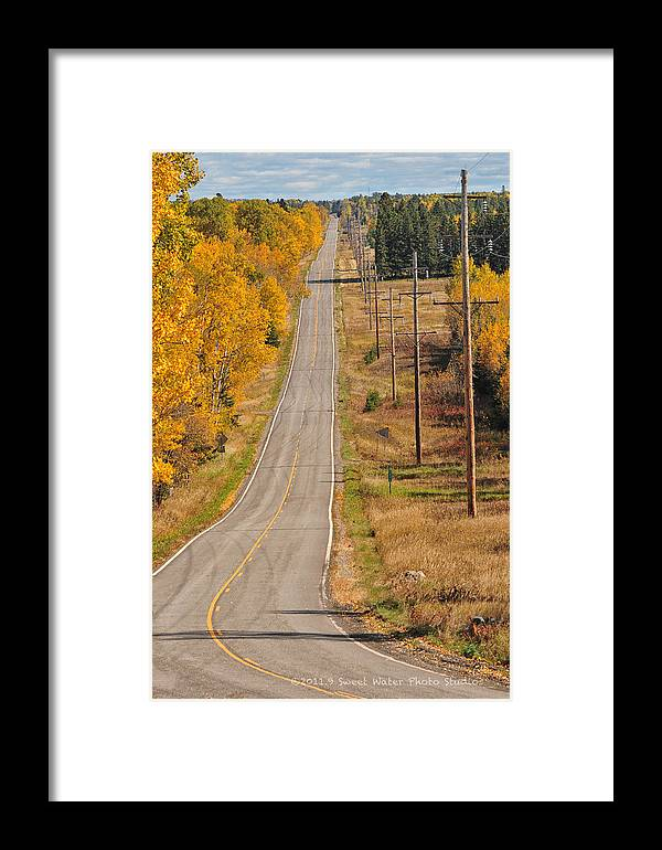 Minnesota Framed Print featuring the photograph Fall Color Tour Mn Highway 1 2925 by Marie Fierek