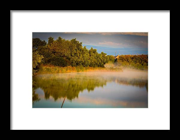 Fall Color Reflection Framed Print featuring the photograph Fall Colors by Abhijit Telang