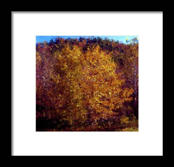 Fall Framed Print featuring the digital art Fall Colors In Yellow by George Ferrell