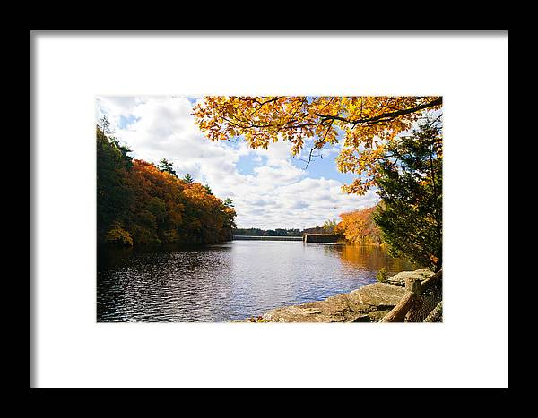 Autumn Leaves Framed Print featuring the photograph Fall Foliage V by Michelle Velencia Deslauriers