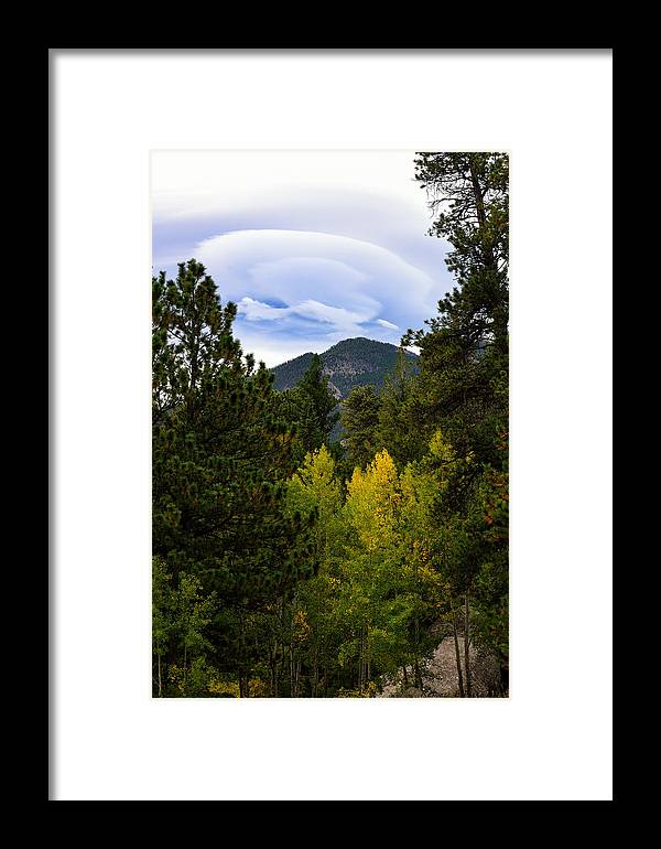 Lenticular Cloud Framed Print featuring the photograph Fall Lenticular Cloud by Rendell B