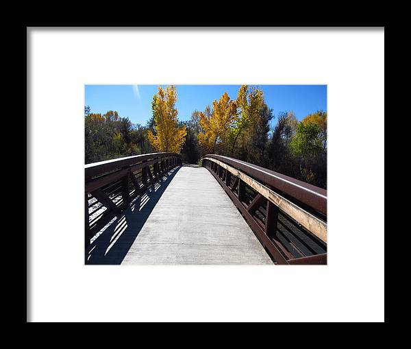 Landscape Framed Print featuring the photograph Fall Morning by Chrissy Larson
